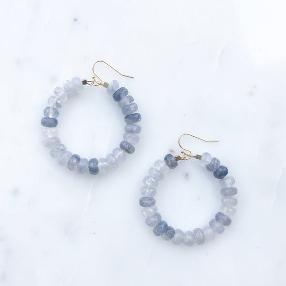 Gray Cloud Agate Earrings
