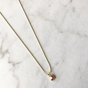 Tiny Pink Heart Choker