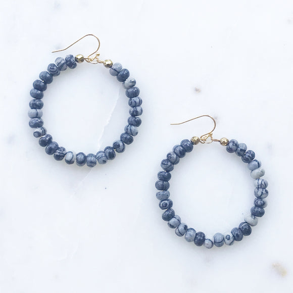 Veined Jasper Earrings