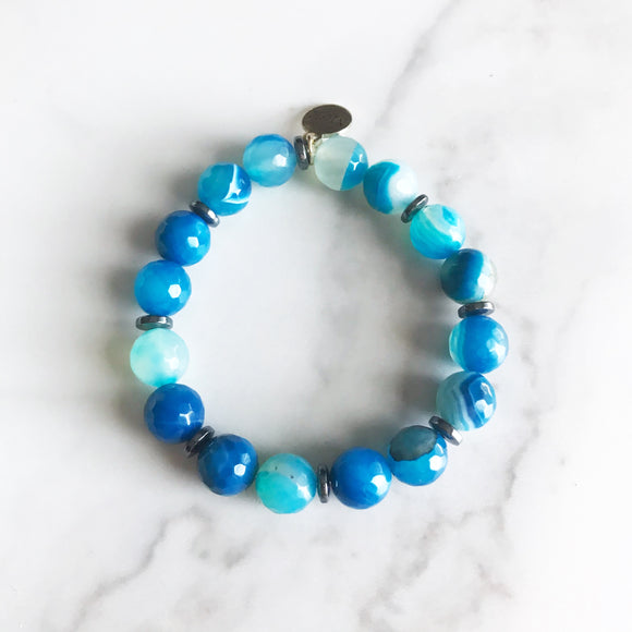 Blue Agate Stretch Bracelet