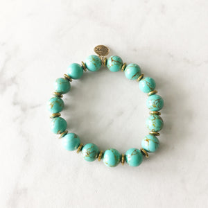 Green Turquoise Stretch Bracelet
