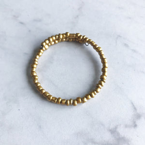 Gold Seed Bead Stacker Bracelet