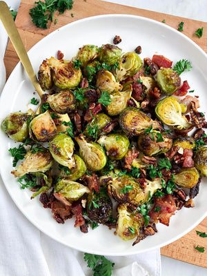 Collagen Recipe: Roasted Brussels Sprouts with Bacon