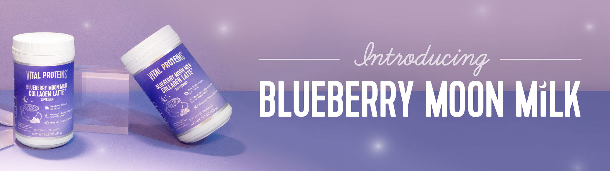 A new flavor, a new phase of the moon. Introducing Blueberry Moon Milk.
