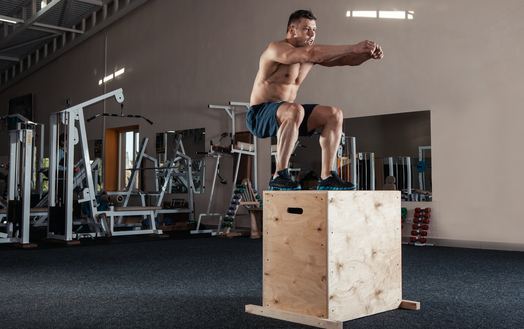 box jumps leg workout challenge