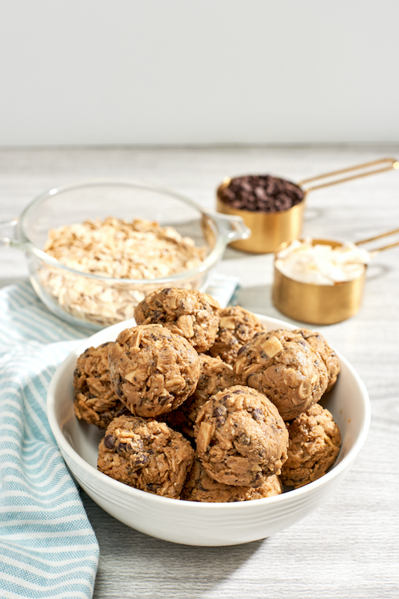 Mid-Afternoon Snack: Toasted Coconut Chocolate Chip Energy Bites