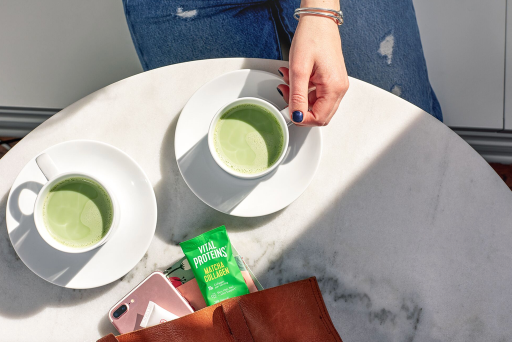 matcha collagen travel essentials