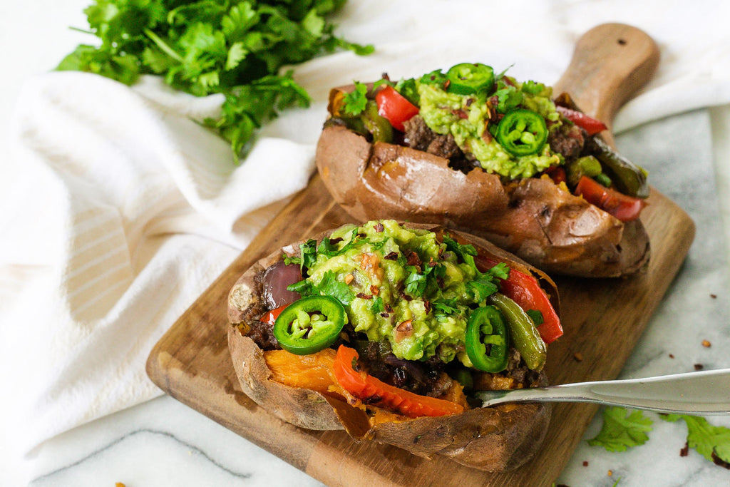 taco stuffed sweet potato