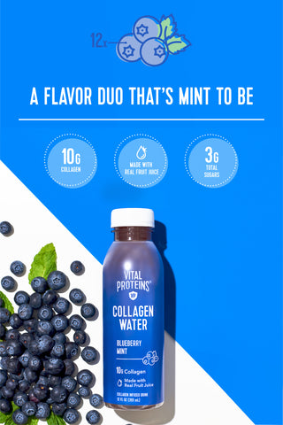 Collagen Water - Blueberry Mint - Vital Proteins