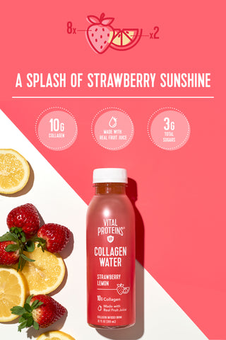 Collagen Water™ - Strawberry Lemon - Vital Proteins |Lifestyle|