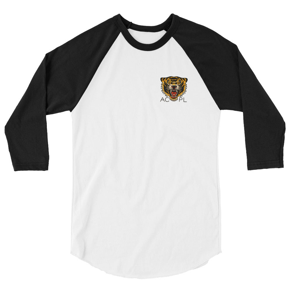 Library Tiger Baseball T-Shirt