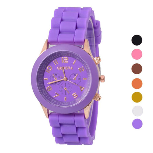 2017  New Fashion Silicone Rubber Jelly Gel Quartz-watch Sports Women Wrist Watch montre femme