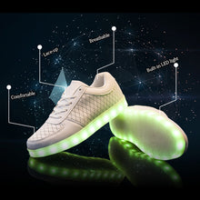 Unisex Breathable Flat Light Up Shoes USB Rechargeable Light Led Shoes