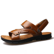 Mens Summer Sandals Genuine Leather Slippers