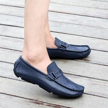 Breathable Men Loafers Handmade Moccasins Genuine Leather