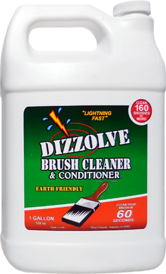 Dizzolve Brush Cleaner & Conditioner 128 oz