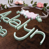 3D Wood Antler Floral Arch Name Sign Nursery Baby Infant Wall Art
