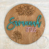 "24"""" Engraved Round Custom Name Wood Sign"