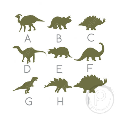 "24"""" Dinosaur Round Custom Wood Name Sign"