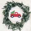 "12"""" CHRISTMAS TRUCK Round Wood Sign"