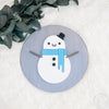 "12"""" CHRISTMAS SNOWMAN Round Wood Sign"
