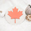 MAPLE LEAF Round Wood Sign
