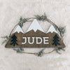 "18"""" Three Peaks Mountain Custom Name Wood Sign"
