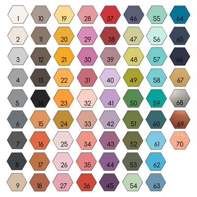 3D Wood Nursery Decor Hexagon Colors
