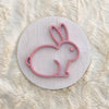 "12"""" EASTER BUNNY OUTLINE Round Wood Sign"