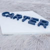 3D Wood Diamond Shape Name Sign Nursery