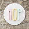 "12"""" EASTER Round Wood Sign"