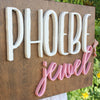 "24"""" x 24"""" Large Square Custom Name Wood Sign"