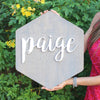 3D Wood Hexagon Shape Name Sign Nursery