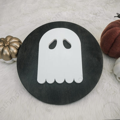 halloween ghost wood decoration