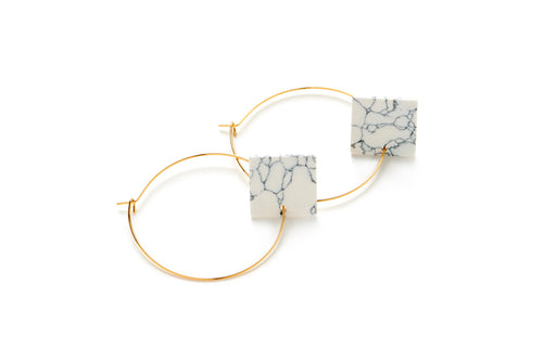 AW17 - Marble square hoops