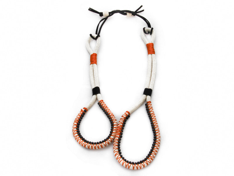 Bopha - Beaded Infinity Necklace