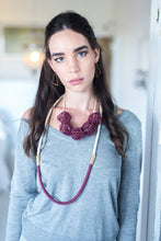 Long Anlo Necklace - Burgundy
