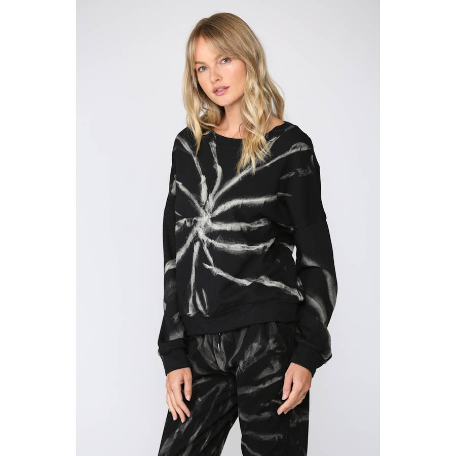 FATE SPIDER WEB TIE DYE SWEATSHIRT