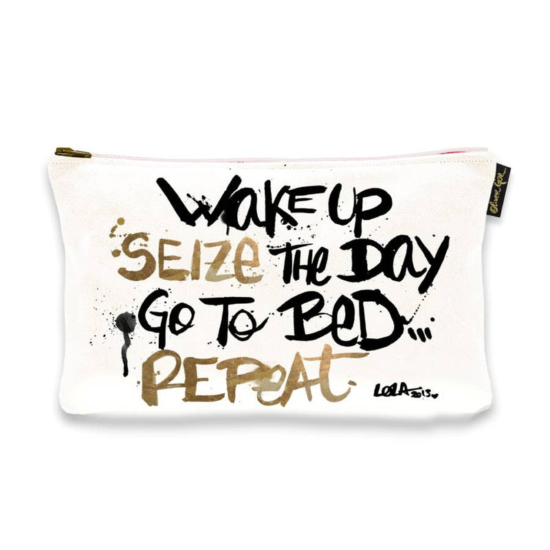 Oliver Gal 'Seize The Day' Pouch (Size 13x9)