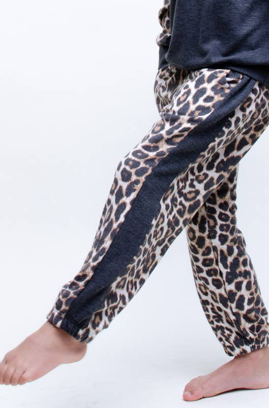 12PM Black and Leopard Joggers