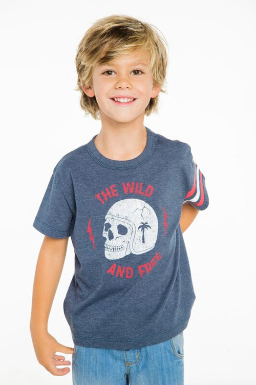 CHASER BOYS WILD AND FREE SHORT SLEEVE TEE