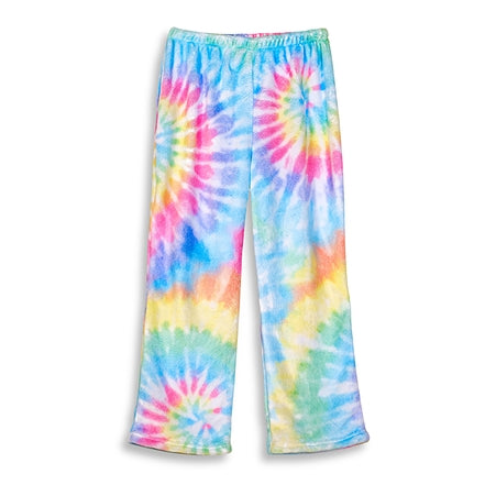 Top Trenz Tie Dye Delight Fuzzy Lounge Pants