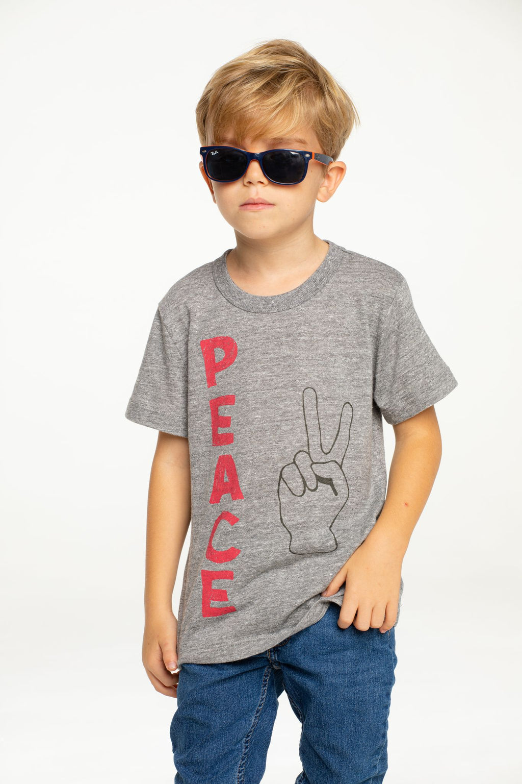 Chaser Boys Grey Peace Tee