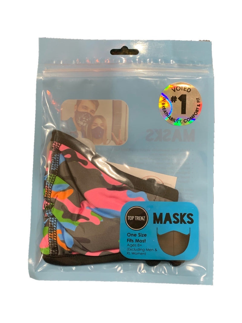 TOP TRENZ NEON CAMO MASK - AGES 8+