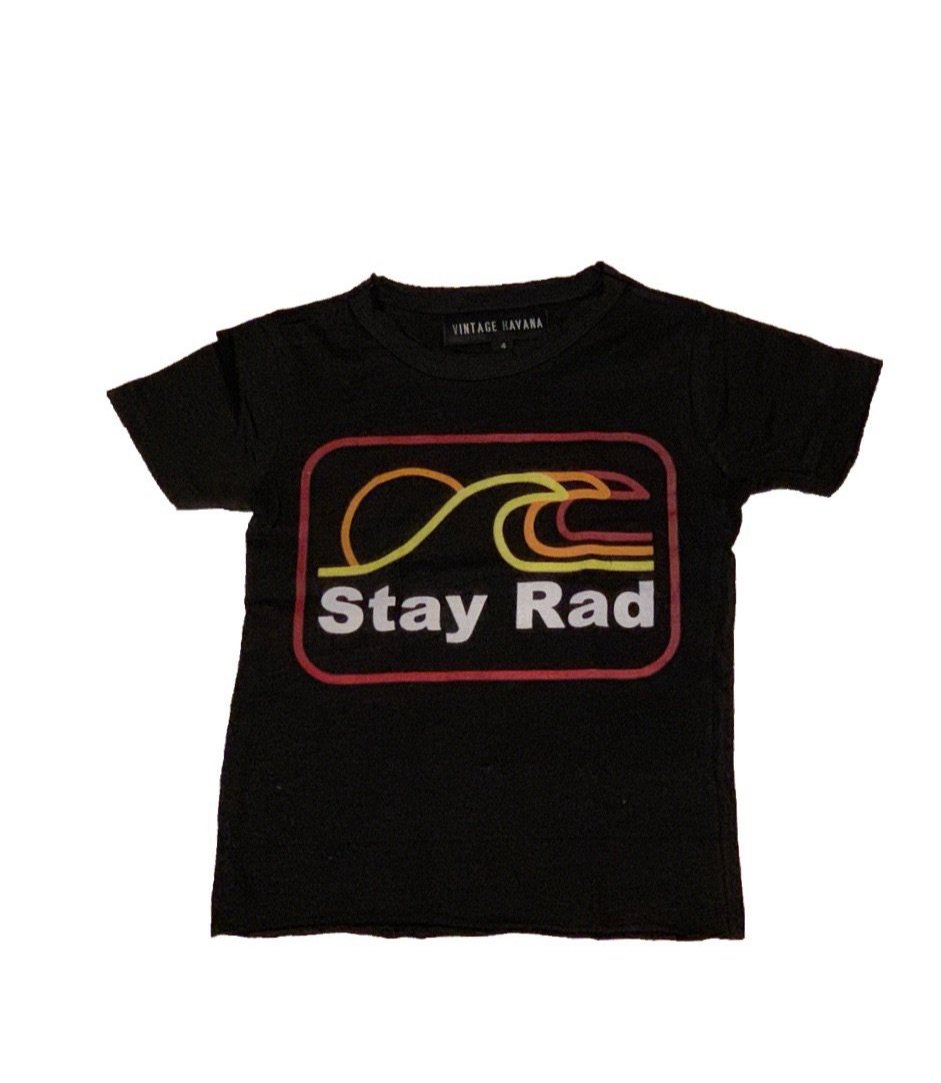 Vintage Havana Boys Black Tee Shirt Stay Rad