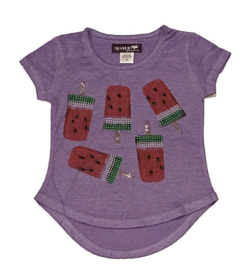 Sparkle By Stoopher Lavendar Watermelon Pops Shirt