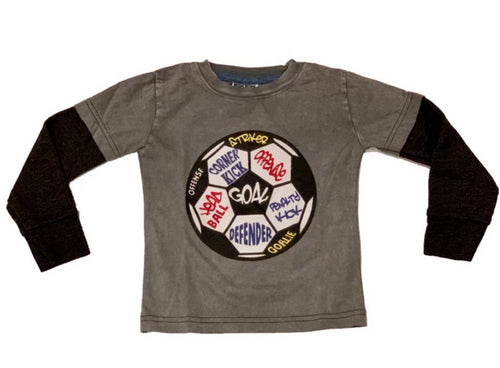 Mish Mish L/S Coal Soccer Ball Shirt