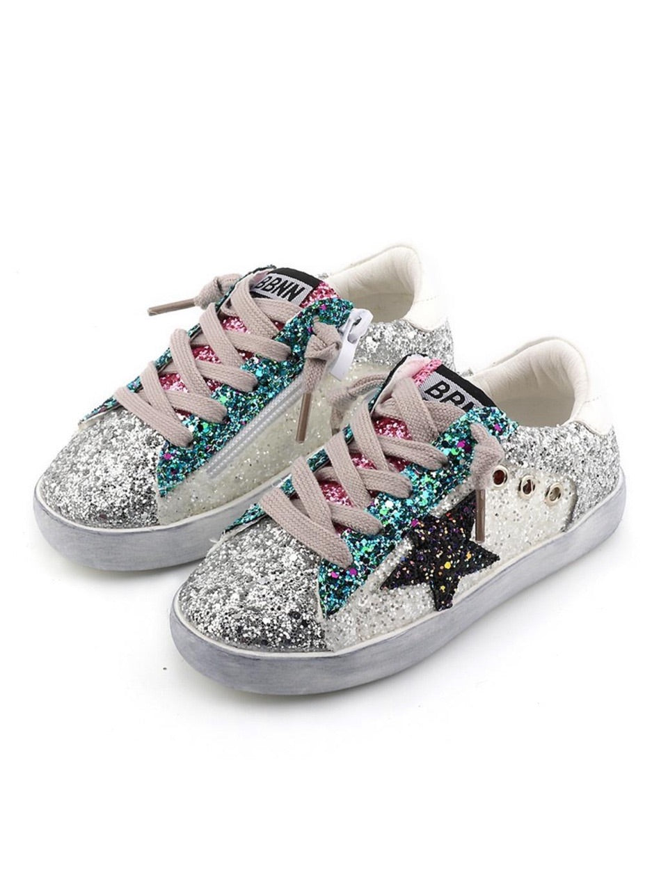 Lola And The Boys Star Glitter Sneakers
