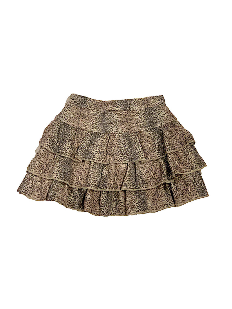 Chaser Girls Leopard Tiered Skirt
