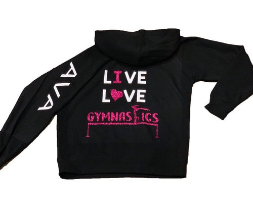Personalized Gymnastics Zip Up Hoodie